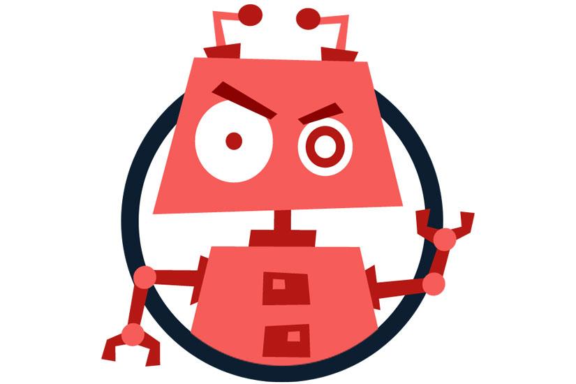 مسدود کردن ربات مخرب