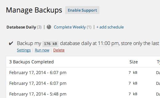 افزونه backupwordpress