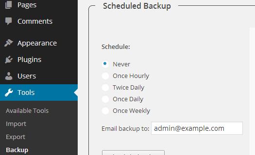 افزونه wp-db-backup