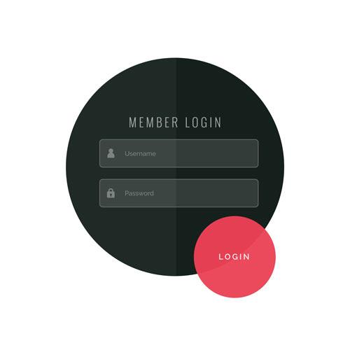فرم ورود و ثبت نام در سایت