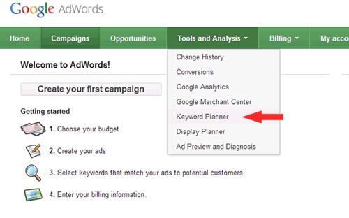 آموزش جستجوی کلمات در ابزار Keyword Planner گوگل