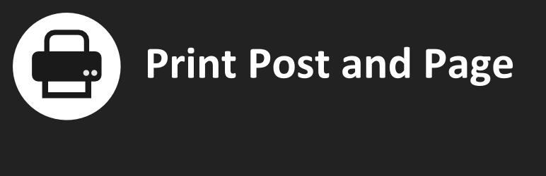 بنر افزونه Print Post and Page