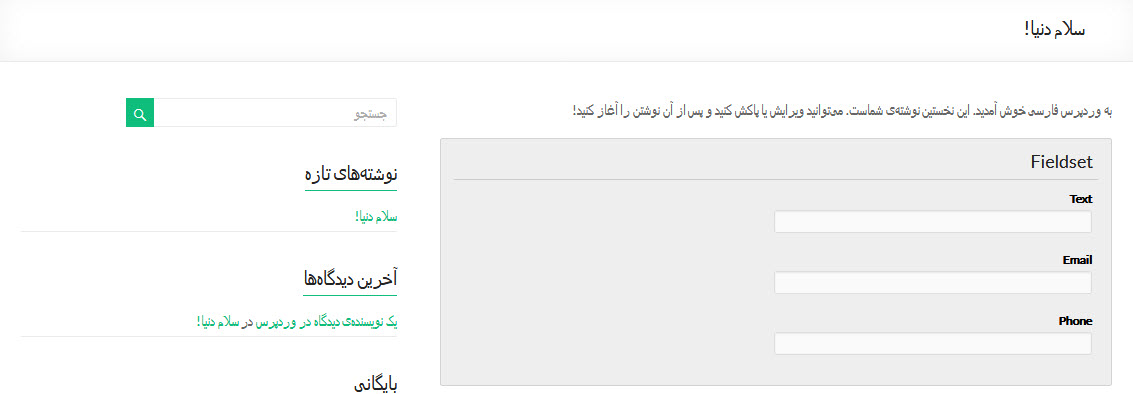افزونه Visual Form Builder وردپرس