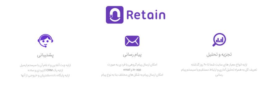 افزونهRetain Live Chat وردپرس