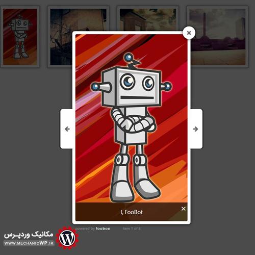 نمایش تصاویر بصورت لایت باکس در وردپرس با افزونه FooBox