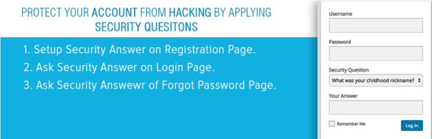 افزونهWP Security Question وردپرس