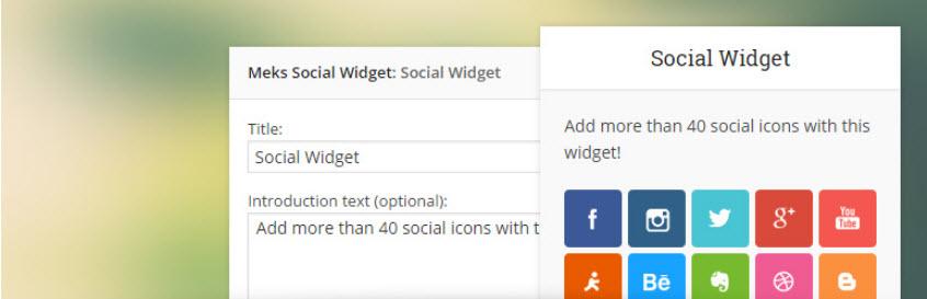 افزونهMeks Smart Social Widget وردپرس