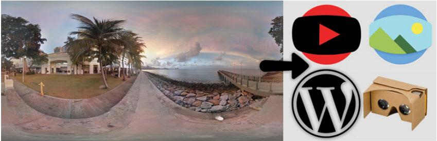 استفاده از تصاویر ۳۶۰ درجه در وردپرس با افزونه WP-VR-view