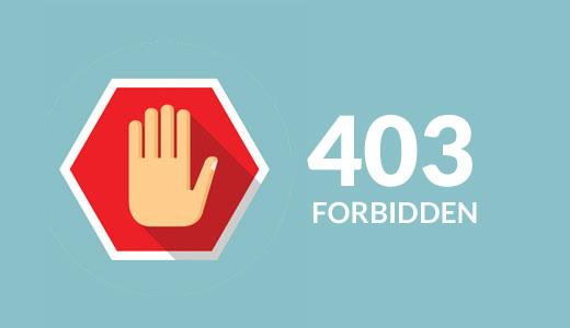 رفع خطای ۴۰۳ در وردپرس