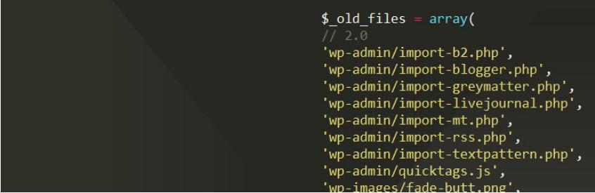افزونهOld Core Files وردپرس