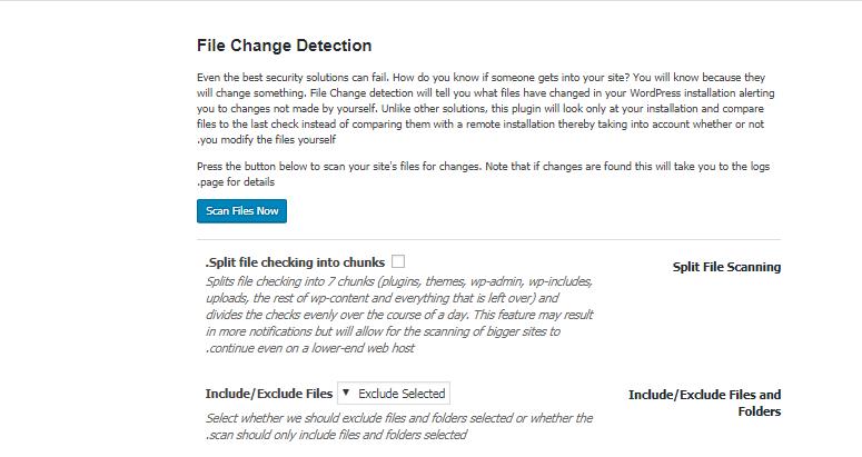 معرفی بخش File Change Detection در افزونه iThemes security