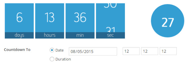 افزونهWaiting One-click countdowns وردپرس